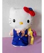 2000 Sanrio Hello Kitty McDonalds Crew Wedding Plush Stuffed Animal Flow... - $11.14