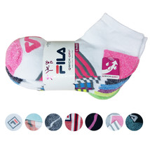 FILA Women's 6 Pack Low Cut Classic Sport Athletic Gym Moisture Control Socks