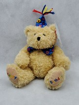 HAPPY BIRTHDAY brown BEAR 2005 TY Beanie Baby Plush Toy  (B) - $9.00