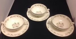 Homer Laughlin Eggshell Nautilus GARDENIA (VM101) Set of 3 Cream Soup Bowls - $17.42