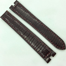 Authentic Cartier 14mm Burgundy Leather Strap Deployant Clasp 5809D07OCAB - $199.00