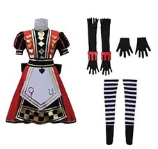 Cosplay Costume Royal Suit Alice Red Dress - $112.19