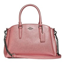 NWT COACH Mini Sage Carryall Tote Crossbody Metallic Dark Blush Pink F29665 - $118.80