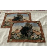 Brand New Set of Two Thanksgiving Turkey Design Harvest Placemats 13x 18... - $11.49