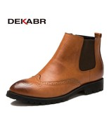 BDF Men Boots Quality Fashion Genuine Leather Vintage Casual Ankle Boots... - $62.70