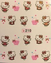 Bang Store Nail Art Glitter Water Decals Hello Kitty Easter Basket Cute Funny - $2.12