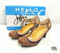 "Jeffrey Campbell ""Able"" Pumps Women's Size 8.5 M Brown Tan Purple Leather - $32.99"