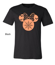 Halloween Minnie Mouse t shirt, minnie mouse glittered artwork design top tee image 3