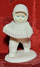 """White 4"""" Department 56 Snowbabies Marching with Accordion Figurine  image 1"""