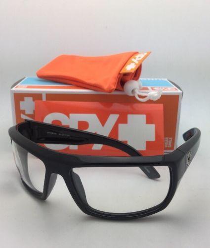 New SPY OPTIC Sunglasses BOUNTY Shiny Black Frames with ANSI Z87.1 Safety Lenses