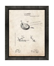Waffle Iron Patent Print Old Look with Beveled Wood Frame - $24.95+