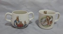 Wedgwood England Beatrix Potter Two Handled Mug and Mug - $18.81