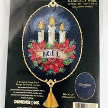 Dimensions Gold Collection Petites Kit Candlelit Noel Ornament Cross Sti... - $24.70