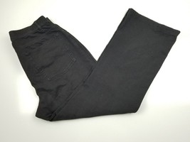Womens D & CO Denim Co Boot cut Stretch  Black Denim  Pants Sz 12 petite - $14.98