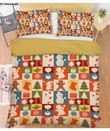 3D Christmas  Xmas 26 Bed Pillowcases Quilt Duvet Cover Set Single Queen... - $64.32+