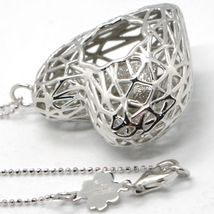 Necklace Silver 925 with Pendant Double Heart, Love Lucky by Maria Ielpo image 6