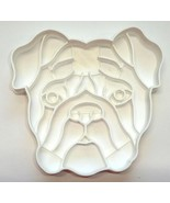 Bulldog Dog Face Detailed Muscular Wrinkled Breed Cookie Cutter USA PR3846 - $2.99