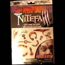 Realistic Zombie TEMPORARY FAKE TATTOOS Walking Dead Horror Costume-PIER... - $2.94
