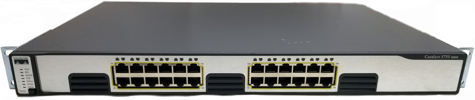 Cisco WS-C3750G-24T-S V07 24 Port Gigabit Switch