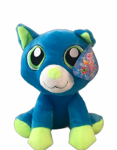 Sugarloaf 2019 Blue and Green Cat Kellytoy Plush Stuffed Animal, New wit... - $10.25