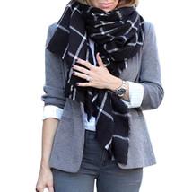 sca7 Celebrity Fashion Oversized Plaid Tartan Pattern Soft Blanket Scarf & Wrap