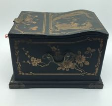 Vintage Wooden Chinese Asian Jewelry Box Chest w/ Mirror Apothecary image 8