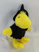 """Peanuts Woodstock Yellow Bird Witch Outfit Hat 6"""" 2013 Squeak Stuffed An... - $9.95"""