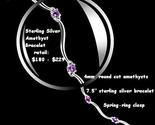 Ss amethyst bracelet thumb155 crop