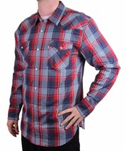 NEW LEVI MEN'S CLASSIC COTTON CASUAL BUTTON UP LONG SLEEVE PLAID 3LYLW1262-RNV image 2