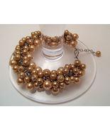 Bracelet SeaShell Pearls Gold  - $9.99