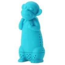 Cute Novelty Silicone Monkey Shape Mesh Tea(LAKE BLUE) - $9.07