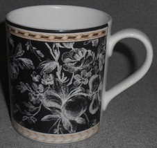 2001 Royal Doulton PROVENCE NOIR PATTERN Handled Mug DARKER COLOR - $24.74