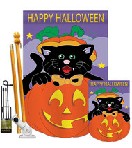 Black Cat - Applique Decorative Flags Kit FK112042-P2 - $99.97