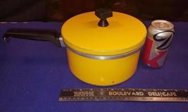 Vintage SEARS ROEBUCK Yellow Chef Quality Aluminum 3qt Sauce Pan w Lid R... - $35.96