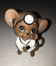 VTG Josef Originals DR. MOUSE with Head Mirror Ceramic Figurine with Sti... - $13.63