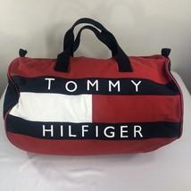 VTG Tommy Hilfiger Duffle Bag Large 90s Backpack Flag Spell Out Colorblo... - $79.99