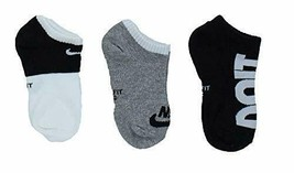 Nike Youth 3PK Performance Lightweight Low Cut Socks XS 10C-3Y UN0008-023 - $15.99