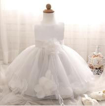 Cute White Ball Gown Flower Girl Dresses O-Neck Kids Pageant Party Gowns... - $28.33
