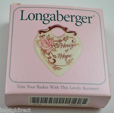 Longaberger 1999 Horizon Of Hope Basket Combo Tie On Liner Protector Lid Cancer