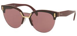 Prada Catwalk Women's Bordeaux Browline Cat-Eye Sunglasses - PR04US TY7098 - $149.99