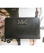 Kate Spade New York Wallet Travel Wellesley Black NEW $248  - $196.02
