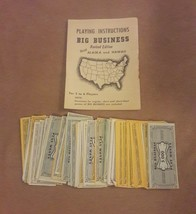 Transogram BIG BUSINESS GAME Replacement pieces PLAY PAPER MONEY INSTRUC... - $8.59