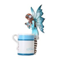 6.25 Inch Hot Cocoa Fairy Standing by Mug Mystical Statue Figurine - $24.74