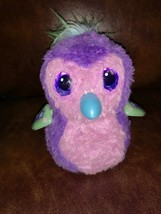 Hatchimals Glittering Garden Sparkly Penguala purple/pink with green star wings - $25.73