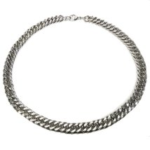"Stainless Steel Heavy Dense Joint Curb Chain Men Necklace 14mm 35"" - $34.80"
