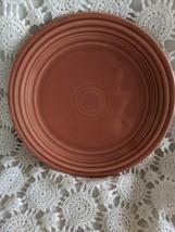 Genuine Fiesta Dinner Plate 9.5 Rose Vintage Made USA - $14.54