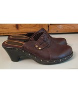 Eurostep SHOES Brown Leather MULES Woman's 6 1/2 M Fancy Footwear - $7.90