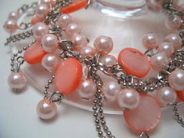 Bracelet pink sea shell pearls and mop  1  thumb200