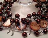 Bracelet brown sea shell pearls mop  1  thumb155 crop