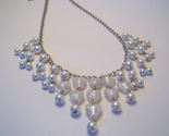 Necklace white pearl azure glass beads thumb155 crop
